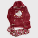 Cats Winter Pajama Dark Red