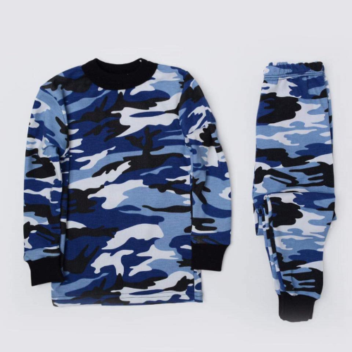 Monaliza Printed Boys Thermal Set Blue Black