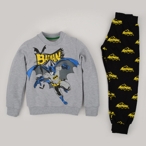 Kangaroo Winter Pajama Batman Gray