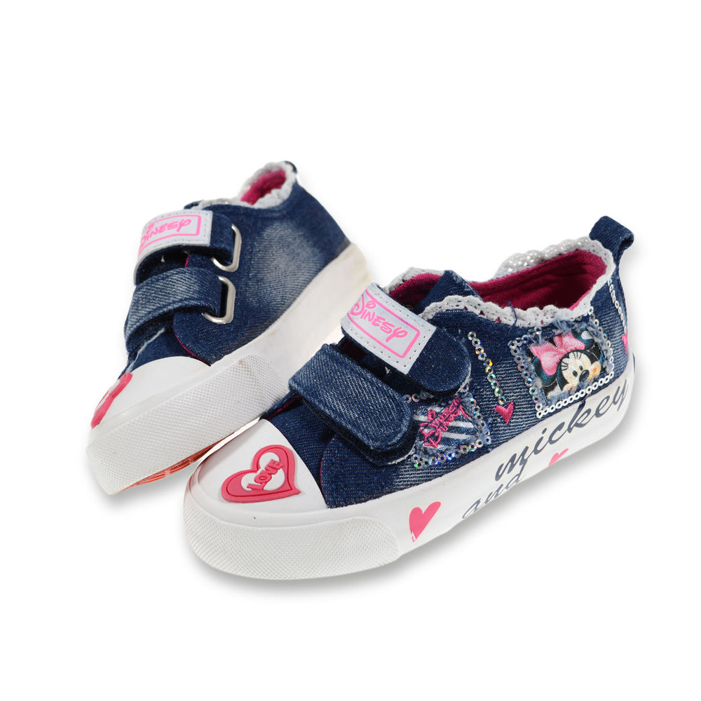 Toobaco Minnie Mouse Jeans Shoes Dark Blue