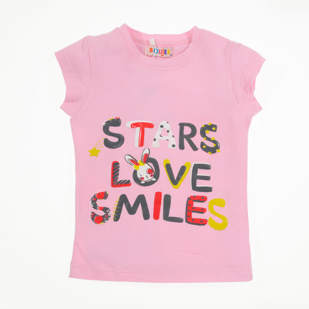 Boujee Stars love smiles T-Shirt Pink