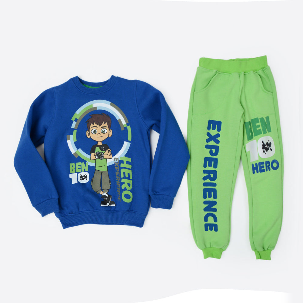 Kangaroo Ben 10 Winter Pajama Blue