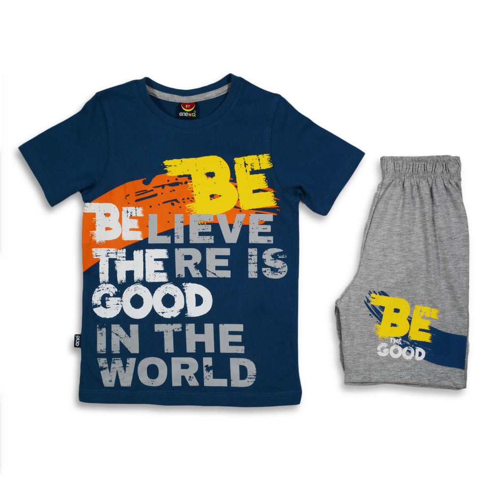 One2twelve Be The Good Pajama Dark Blue