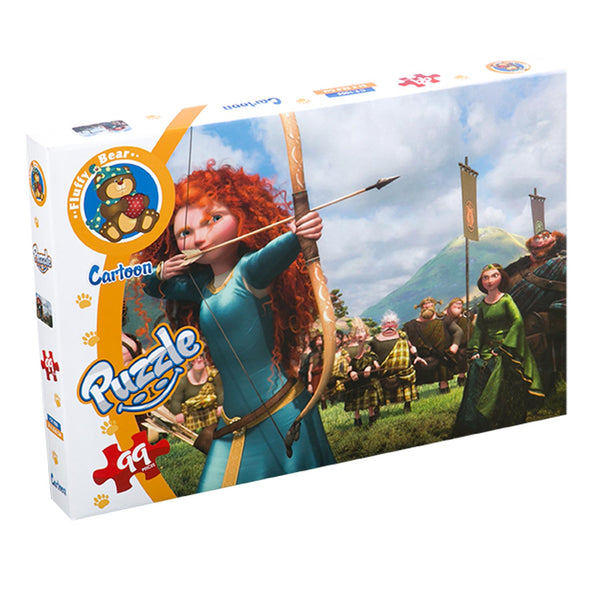 Brave Puzzle 99 Pieces - Fluffy Bear