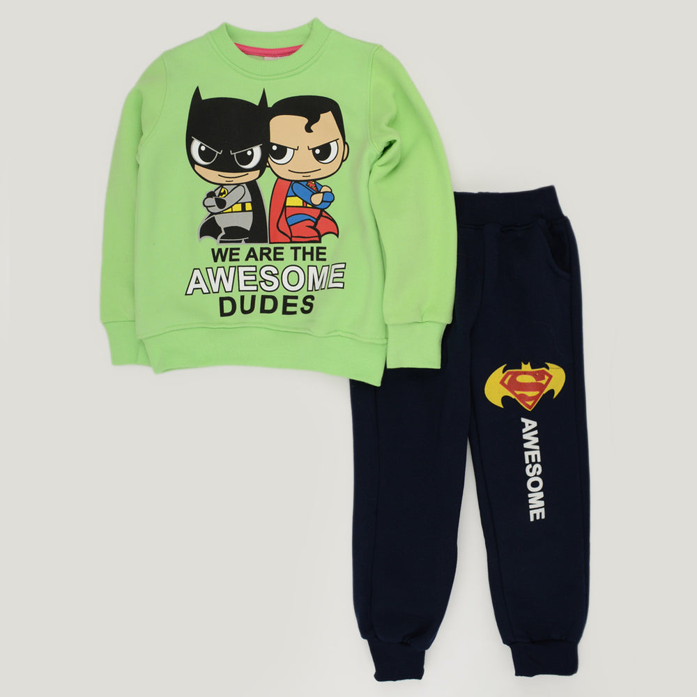 Kangaroo Superman Vs Batman Pajama Green