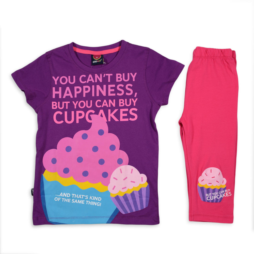 One2twelve Cupcake Pajama Purple