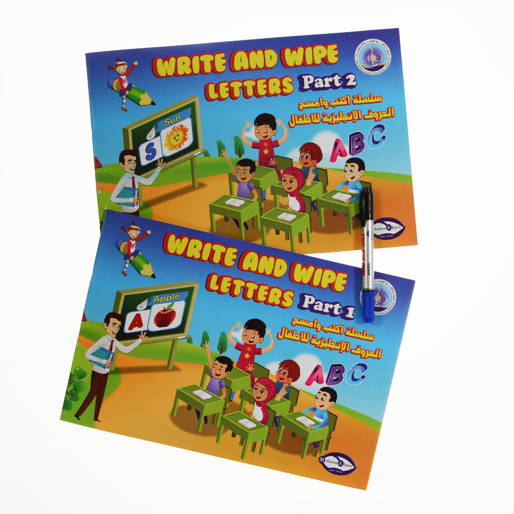 Write And Wipe English Letters Book