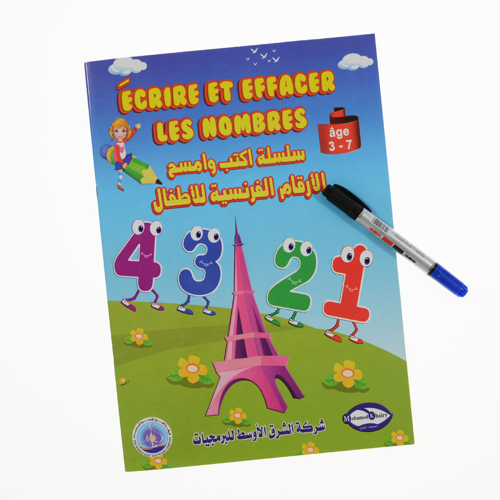 Write And Wipe French Numbers  Book