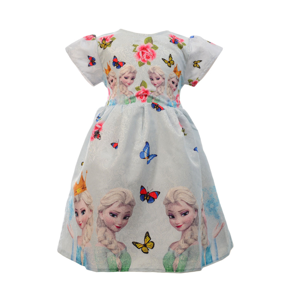 Marz Frozen Floral Dress Baby Blue