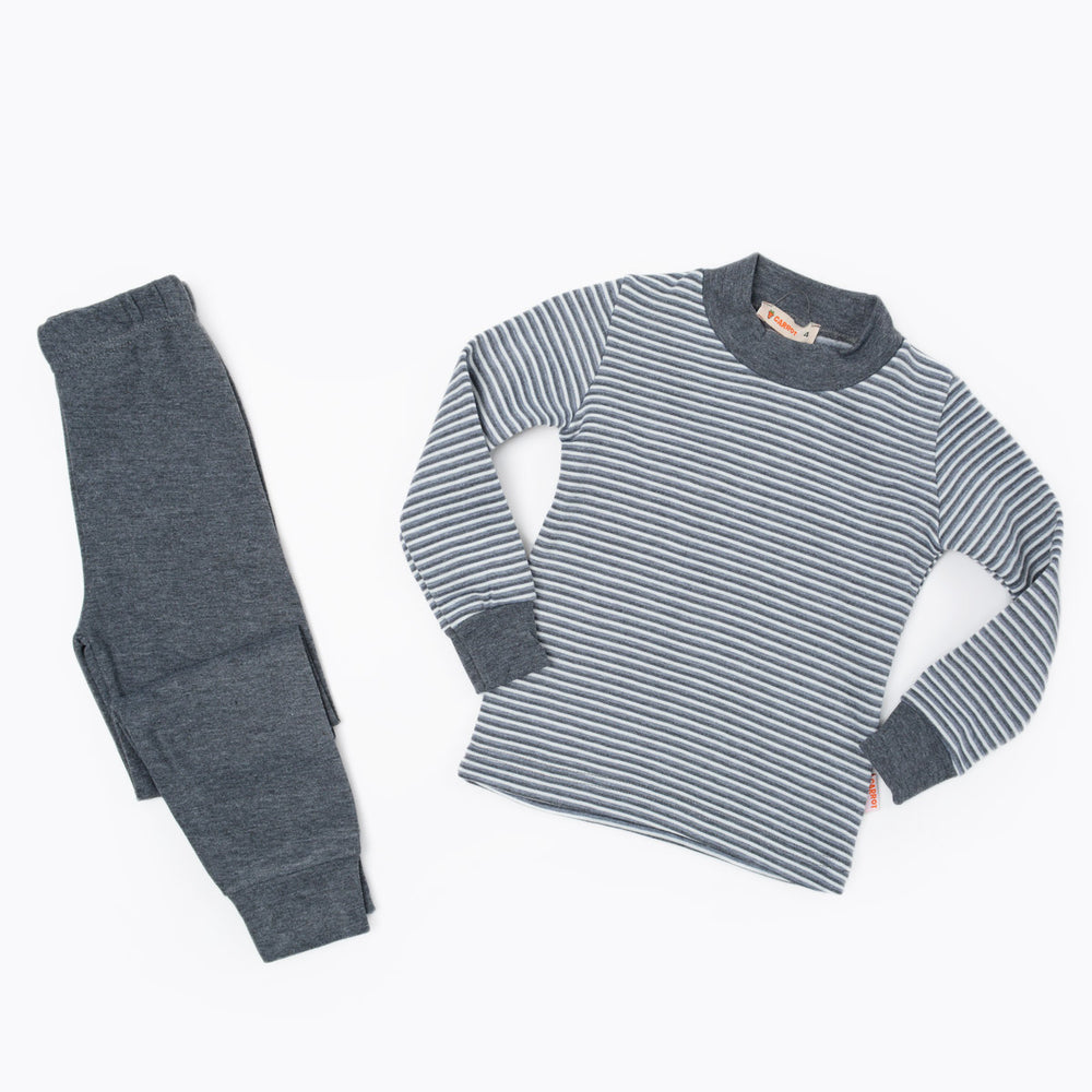 Carrot Striped Thermal Set Gray
