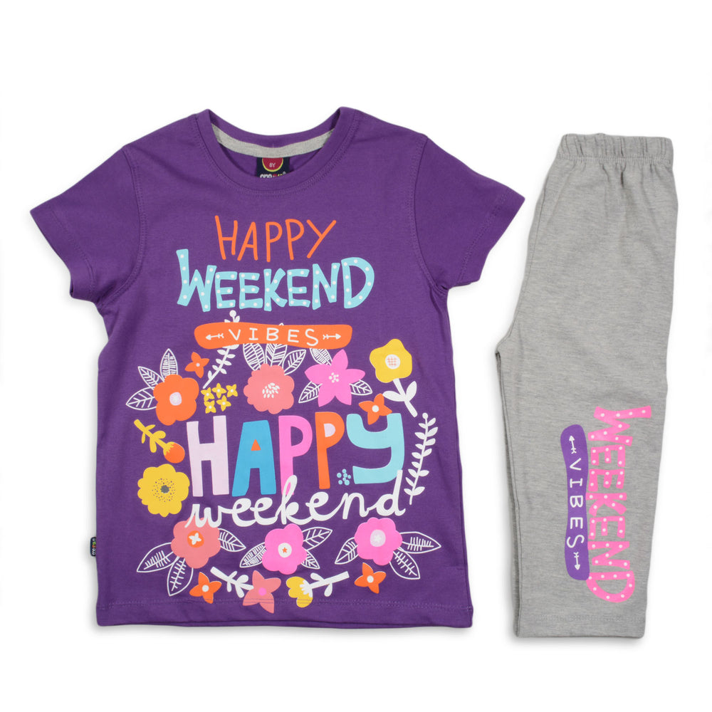 One2twelve Weekend Pajama Purple