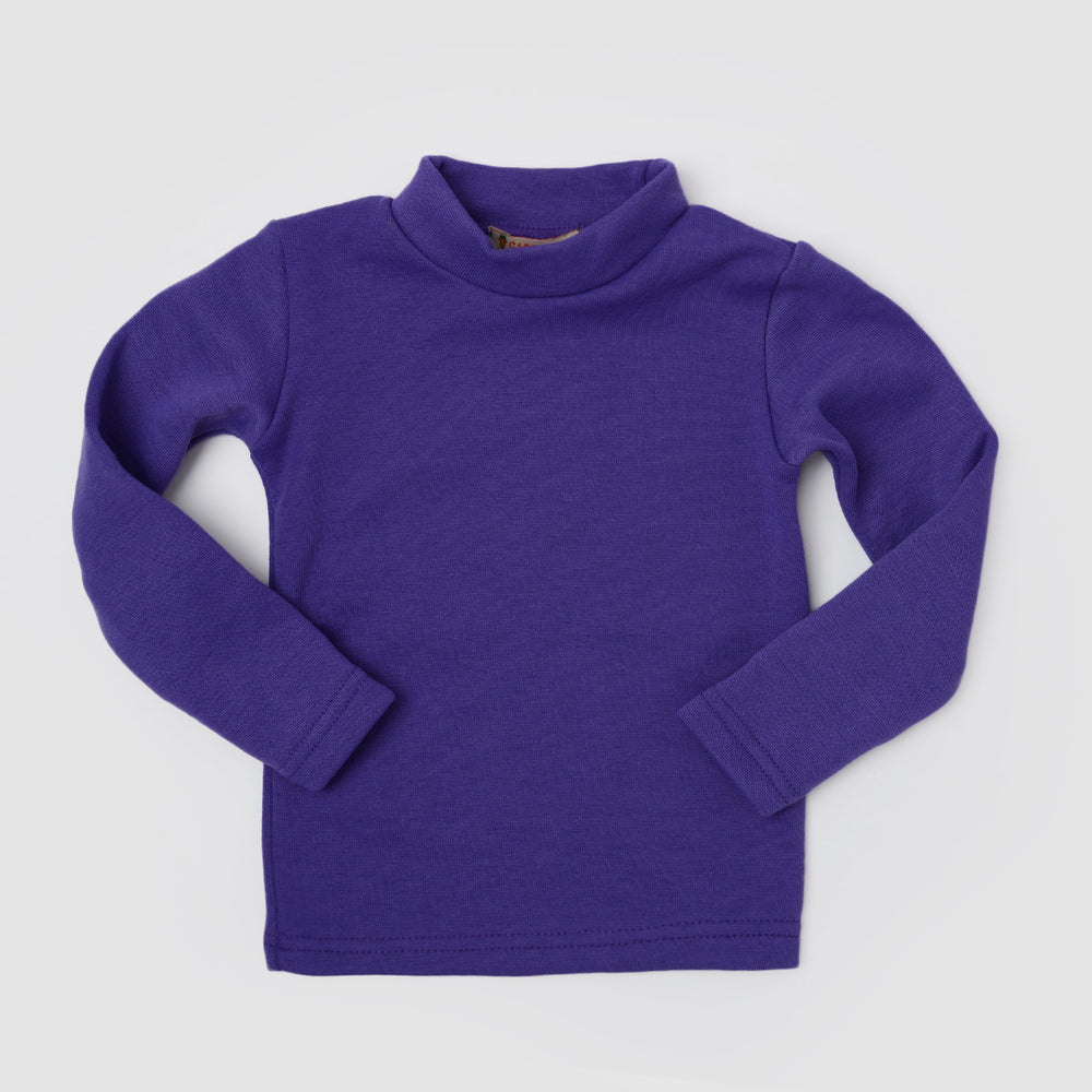 Carrot Half Collar Long Sleeve Basic Tee Purple