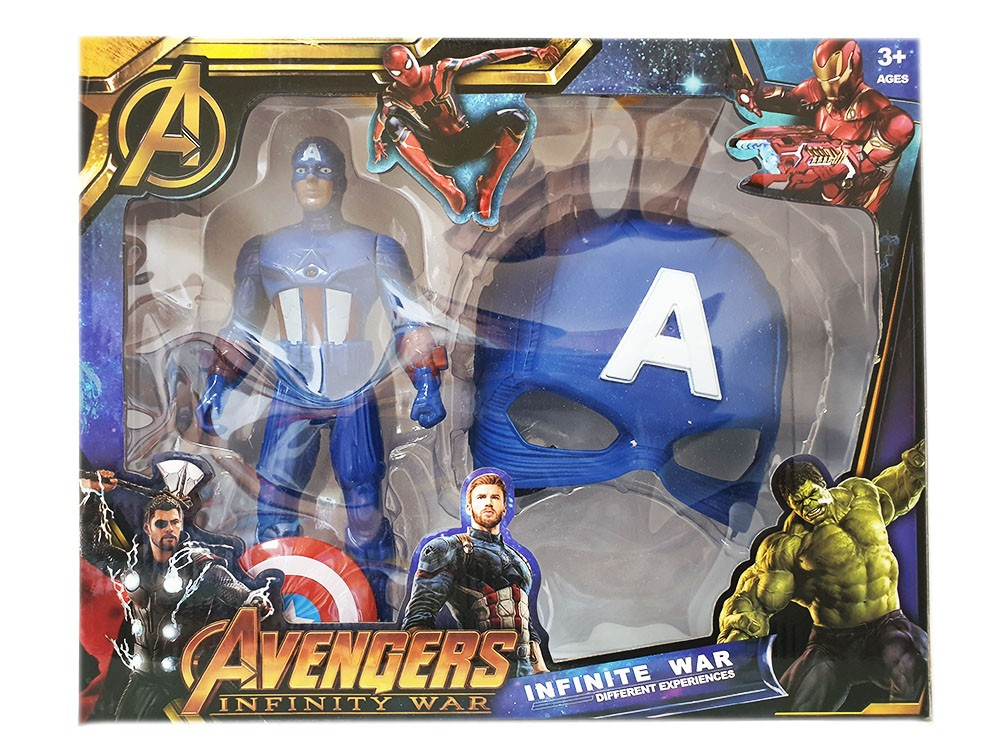 Captain America Action Figure 25 cm and mask