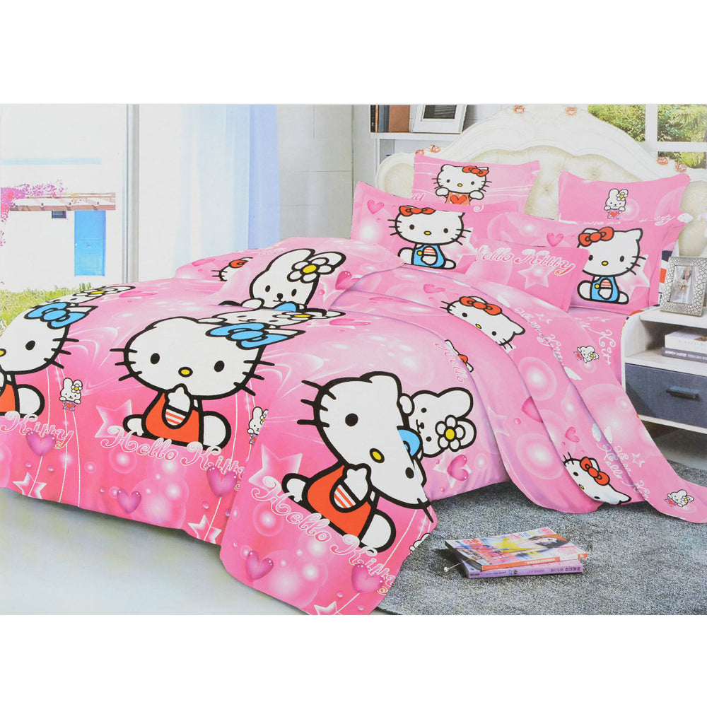 Hello Kitty 6 Pieces Bed sheet With Pillowcase Pink