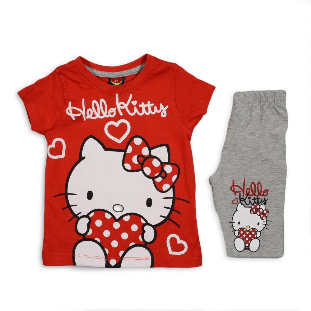 One2twelve Kitty Pajama Red