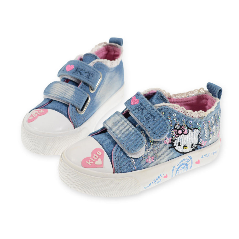 Toobaco Kitty Jeans Shoes Light Blue