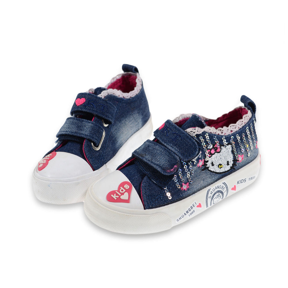 Toobaco Kitty Jeans Shoes Dark Blue
