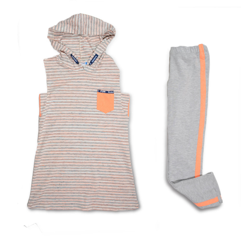Sotchi Pocket Lines Pajama Gray Orange