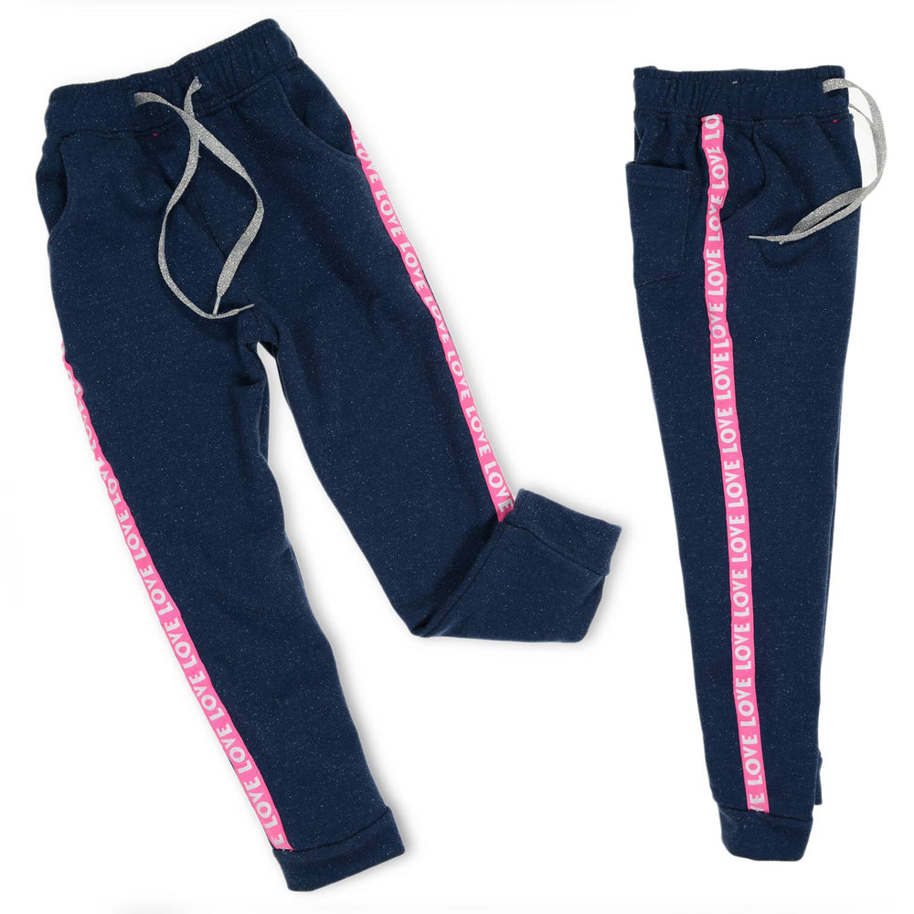 Marz Love Pants Blue Black Fushia