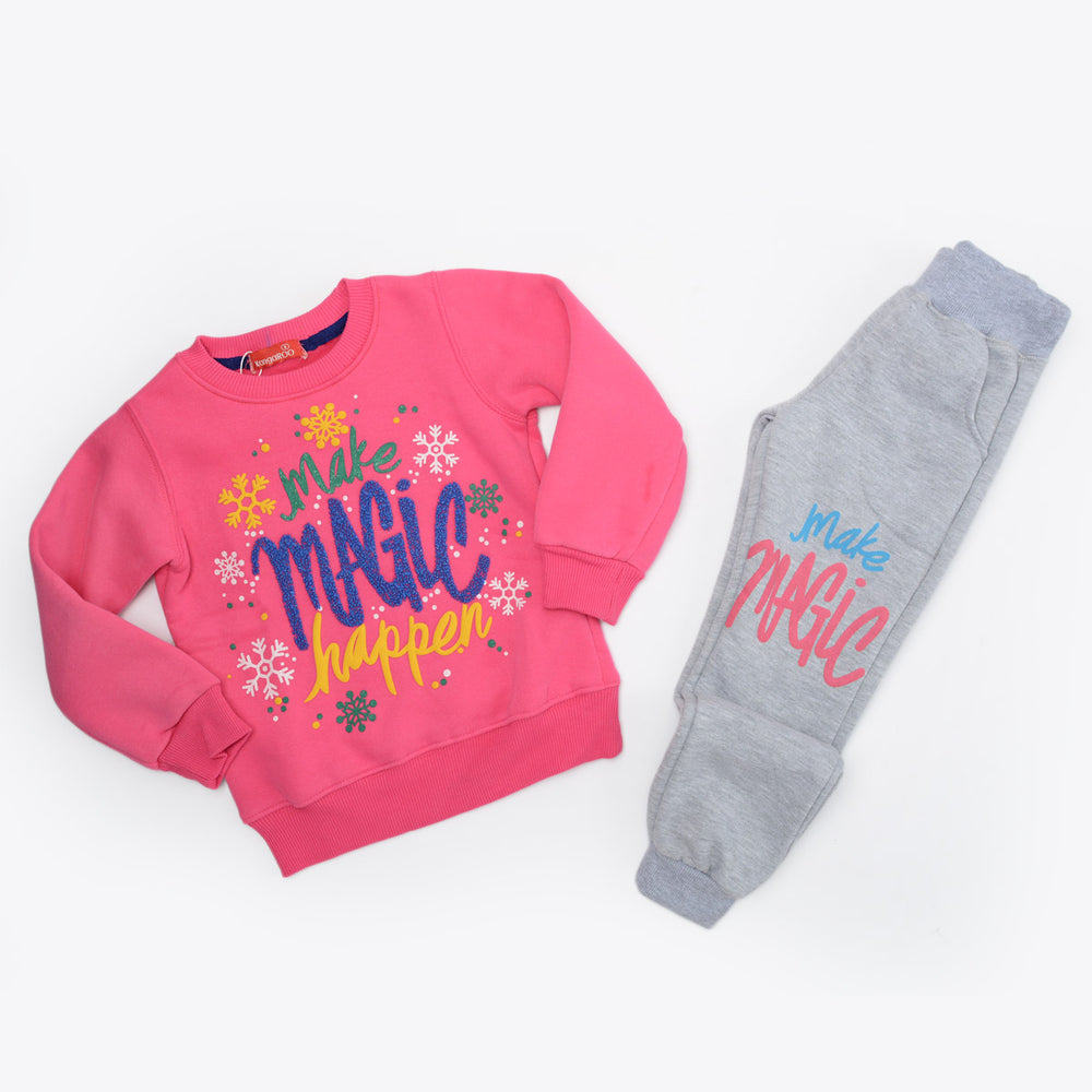 Kangaroo Magic Winter Pajama Fushia