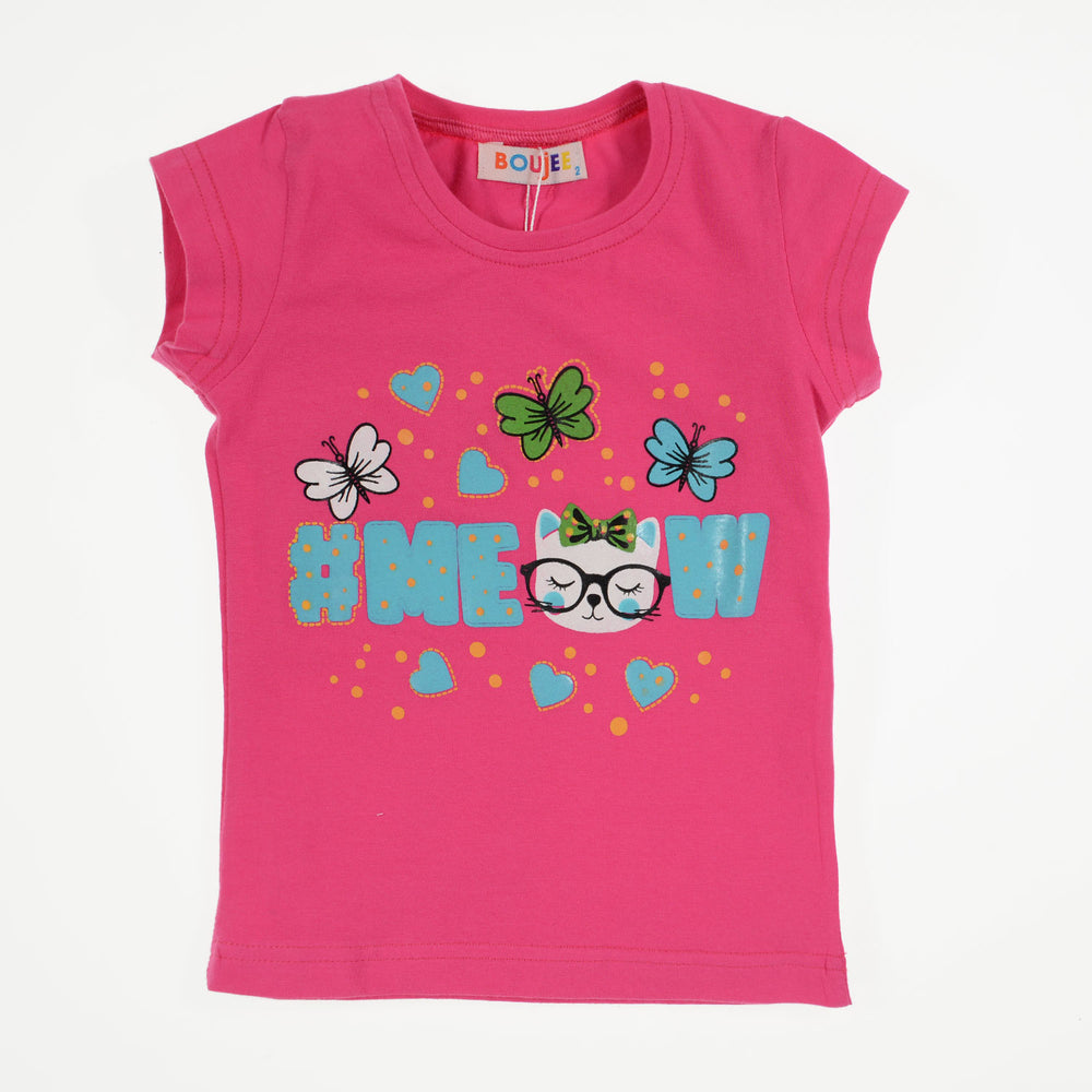 Boujee Meow Cat T-Shirt Fuschia