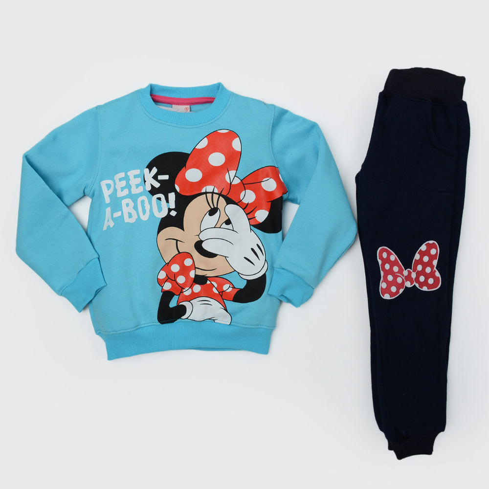 Kangaroo Minnie Mouse Winter Pajama Light Blue