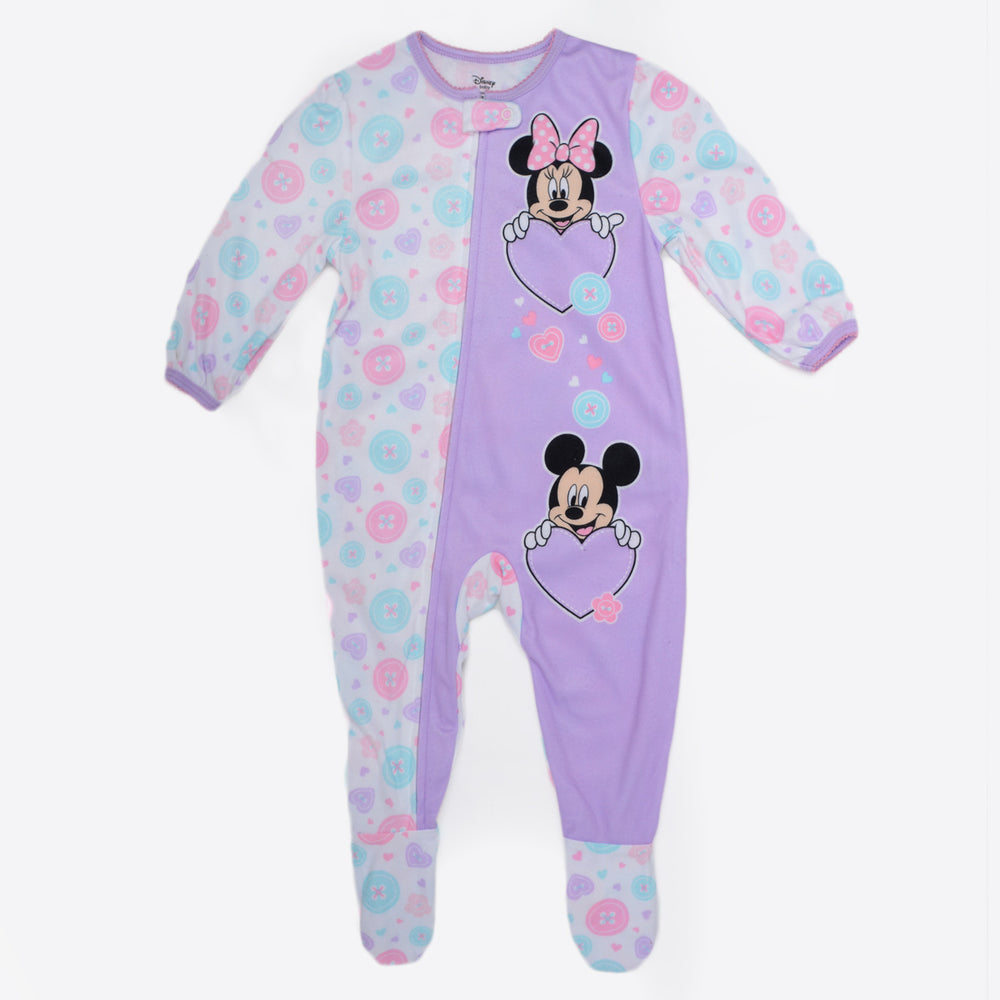 Minnie Mouse Bodysuit Pajama Purple