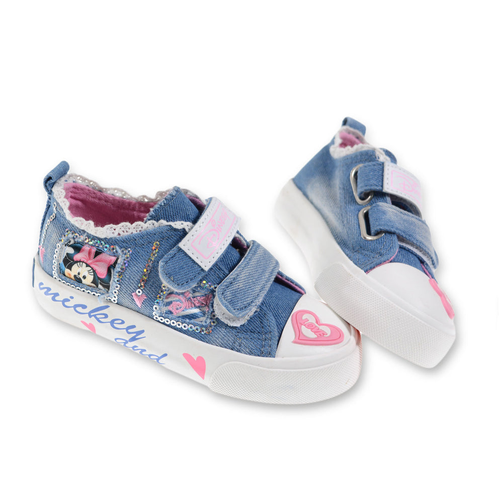 Toobaco Minnie Mouse Jeans Shoes Light Blue