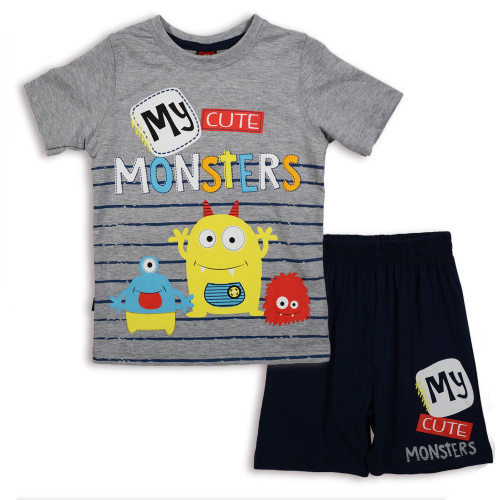 One2Twleve Cute Monster Pajama Gray