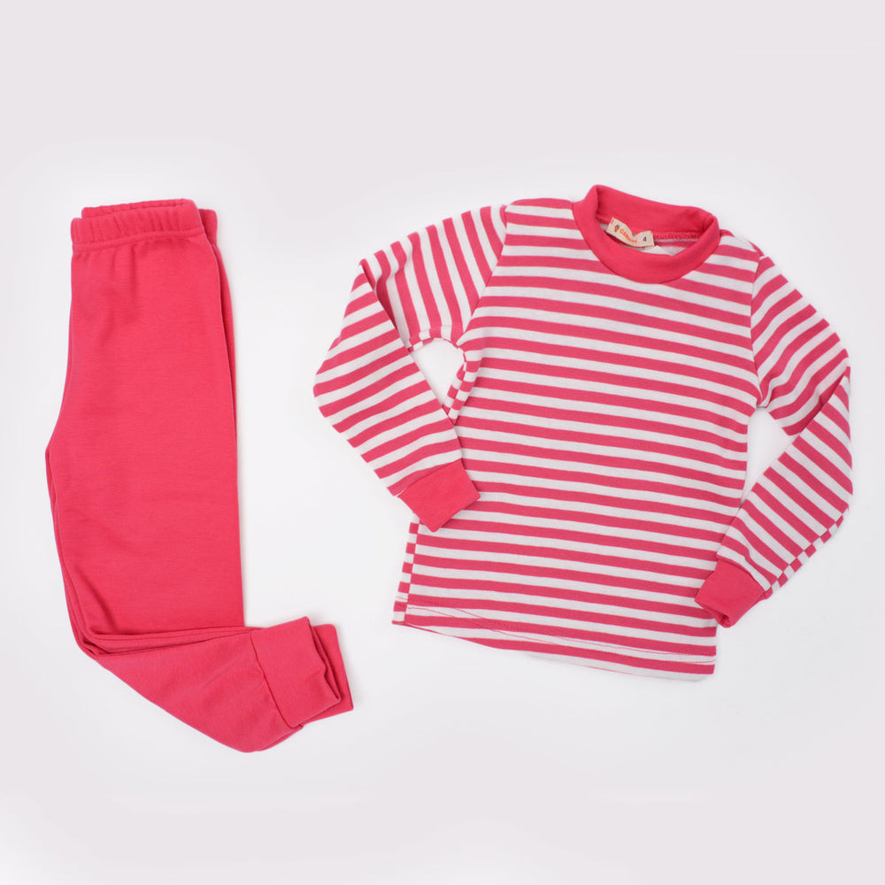 Carrot Striped Thermal Set Fushia