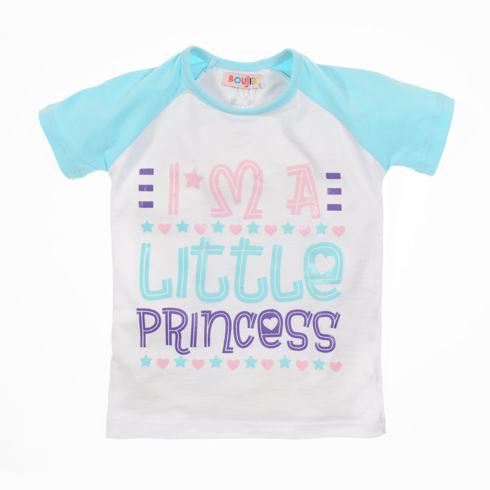 Boujee Little Princess T-Shirt Light Blue