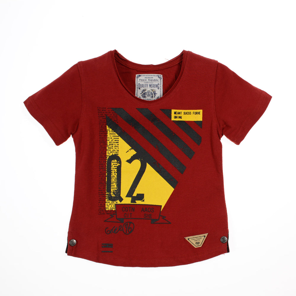 Peace Republic Meant Shirt Dark Red