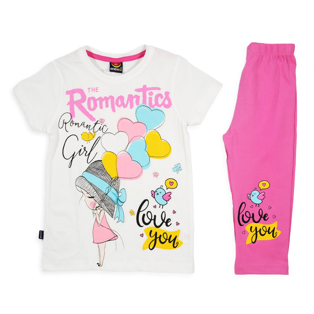 One2twelve The Romantics Pajama White