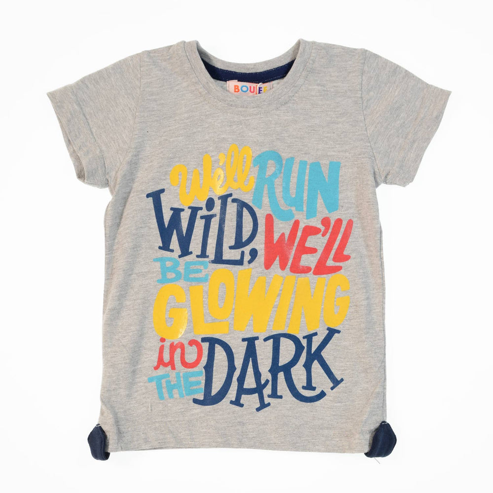 Boujee Wild Dark Grey Boys Tshirt