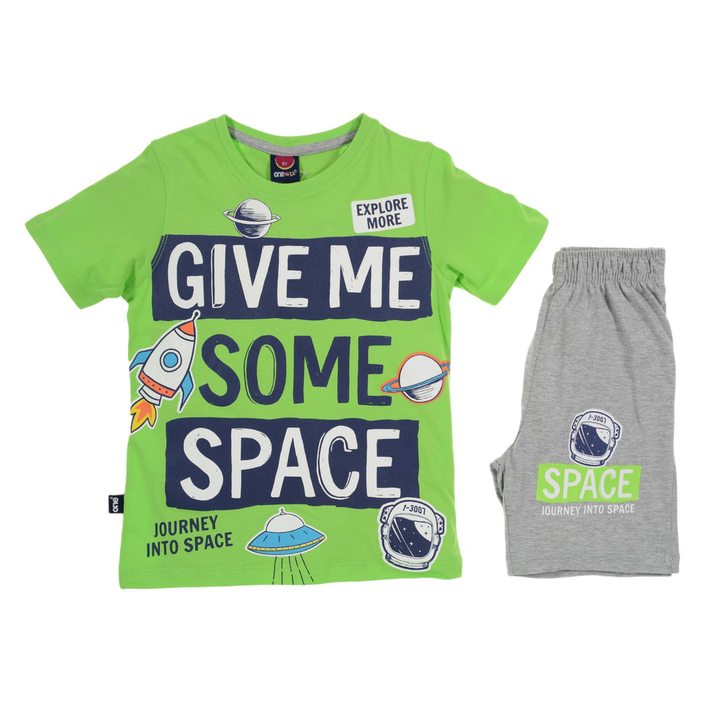 One2twelve Space Pajama Green