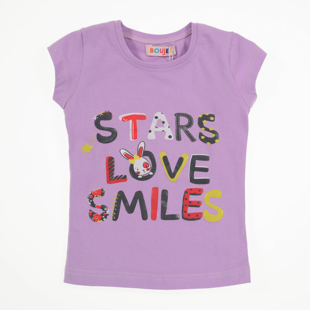 Boujee Stars love smiles T-Shirt Light Purple