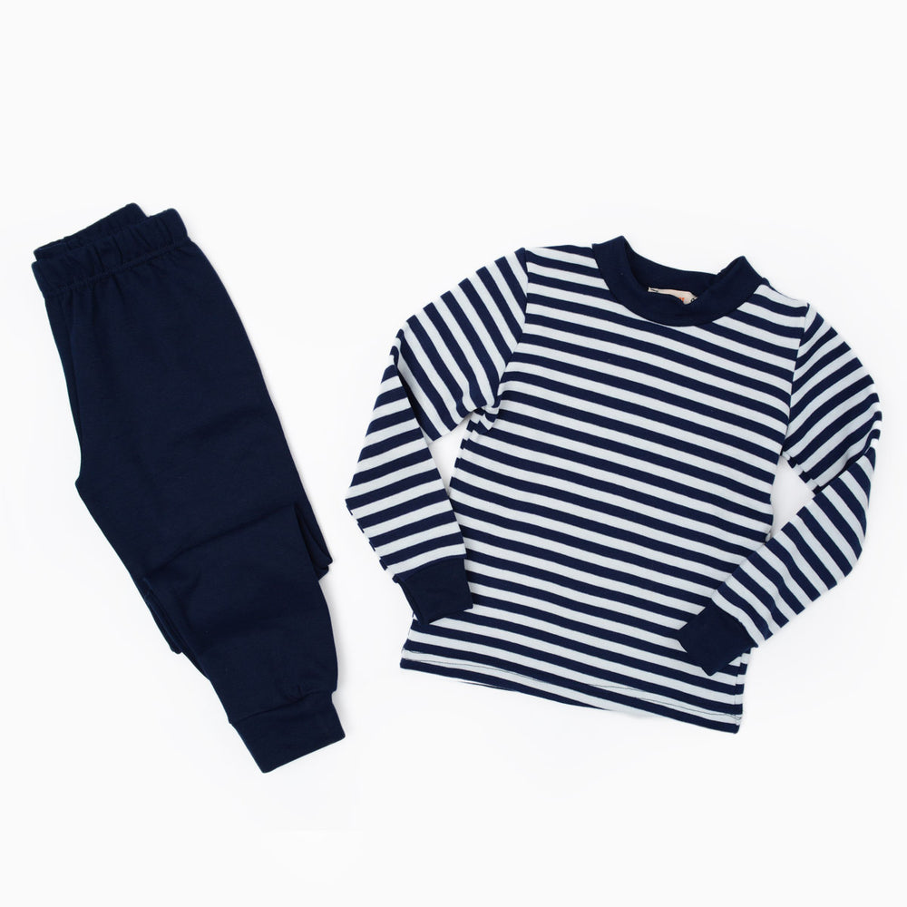 Carrot Striped Thermal Set Blue Black
