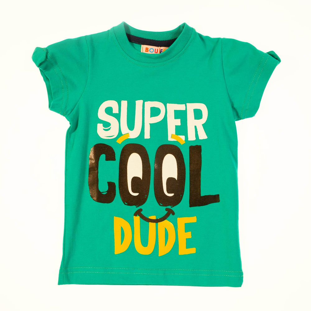 Boujee Super Cool Green Boys Tshirt