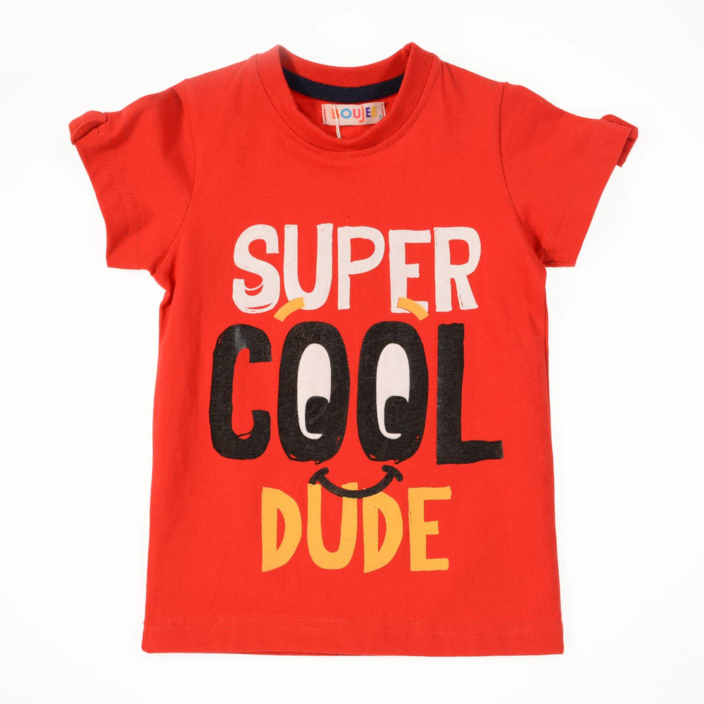 Boujee Super Cool Red Boys Tshirt