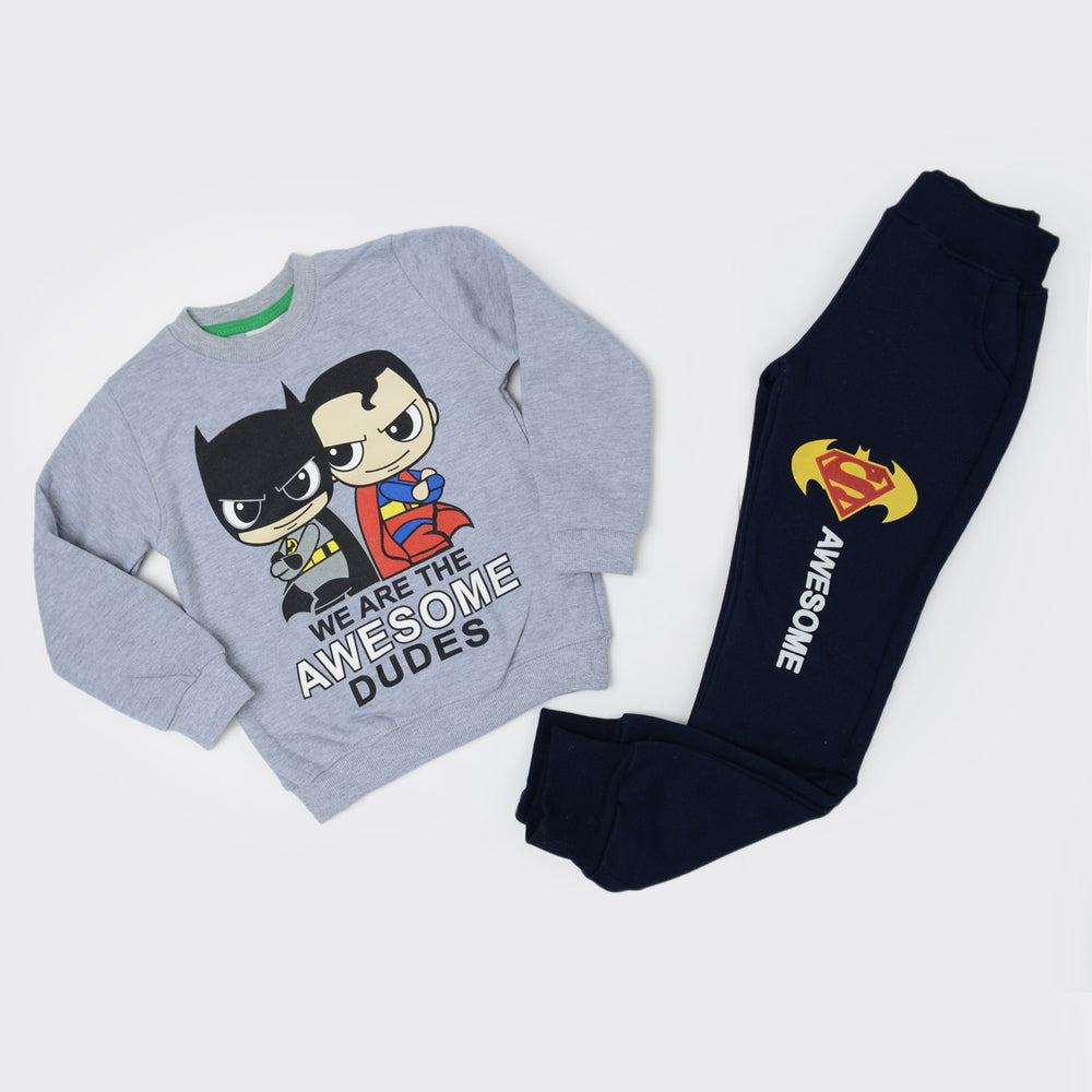 Kangaroo Superman Vs Batman Pajama Gray