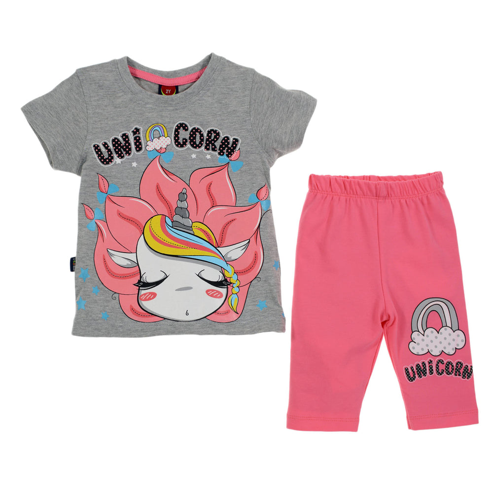 One2twelve Unicorn Pajama  Gray