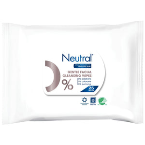 Neutral 0% Face Wipes - 25 Wipes