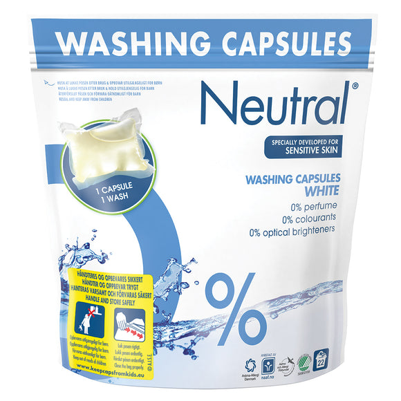 Neutral White Washing Capsules - 22 Wash - 583g