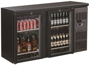 Backbar cooler 350L svart 2 dører