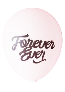 """Forever Ever"" Balloons in White/Black - Set of 3"