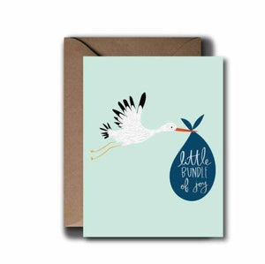 Boy Stork Baby Greeting Card