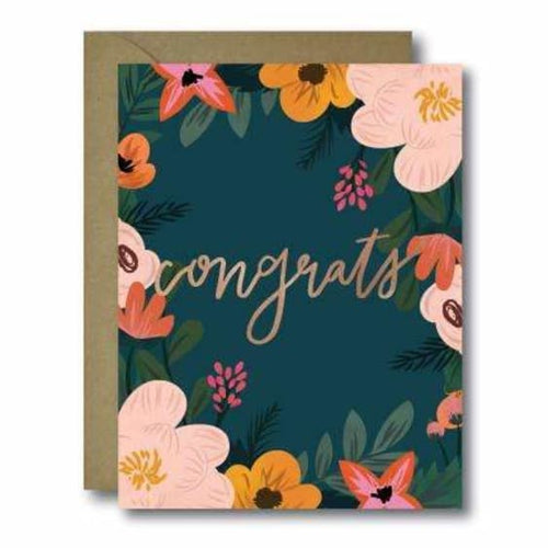 Floral Congrats Greeting Card