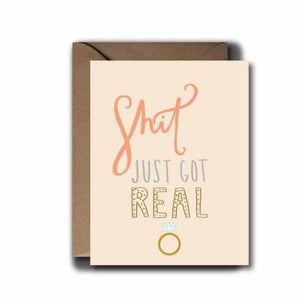 Shit Just Got Real Wedding Greeting Card