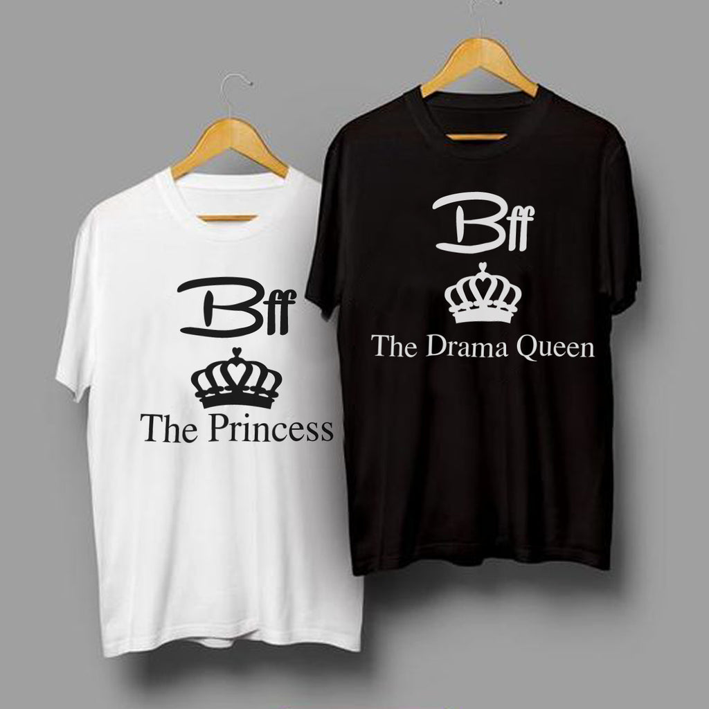 The Princess & The Drama Queen - Best Friend T Shirts - BFF  T Shirt