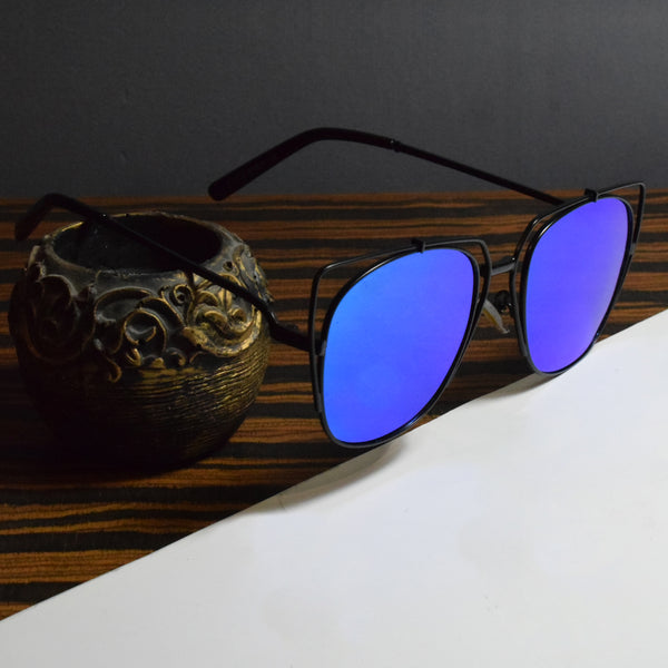 Aiden Trendy Blue Sunglasses